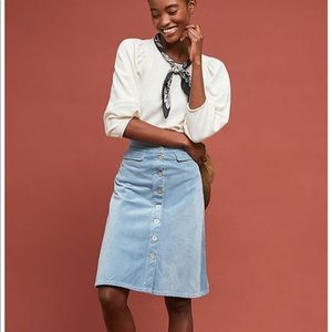 NWT light blue Corduroy skirt | Anthropologie